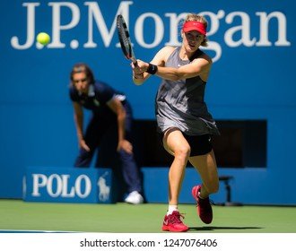 NEW YORK CITY,  - AUGUST 30 : Eugenie Bouchard of Canada at the 2017 US Open Grand Slam tennis tournament
