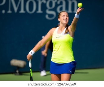 NEW YORK CITY,  - AUGUST 30 : Shelby Rogers of the United States at the 2017 US Open Grand Slam tennis tournament