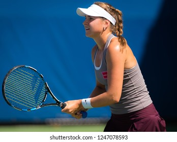 NEW YORK CITY,  - AUGUST 30 : Rebecca Peterson of Sweden at the 2017 US Open Grand Slam tennis tournament