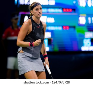 NEW YORK CITY,  - AUGUST 30 : Petra Kvitova of the Czech Republic at the 2017 US Open Grand Slam tennis tournament