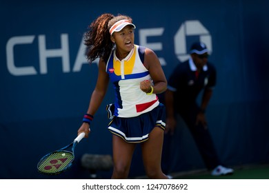 NEW YORK CITY,  - AUGUST 31 : Naomi Osaka of Japan at the 2017 US Open Grand Slam tennis tournament