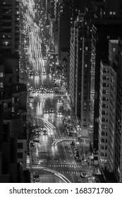 New York City Avenue at night