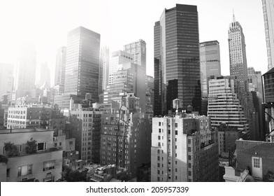 New York City, black and white