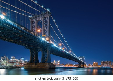 New York city bridges and Skyline