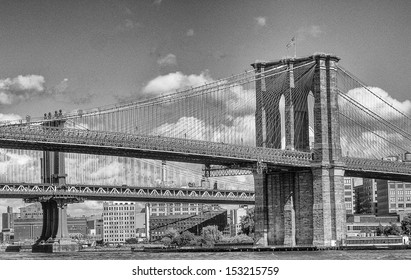 New York City. Brooklyn Bridge and East River.