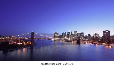New York City- Brooklyn Bridge at night