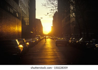 NEW YORK CITY - CIRCA 1990's: Sunrise on Lower East Side, NY