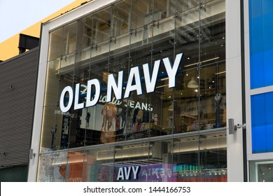 New York City, Circa 2019: Old Navy clothing and accessory retail store previously owned by The Gap.