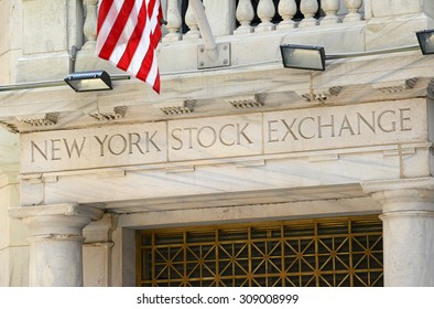 NEW YORK CITY - CIRCA APRIL 2015. Known as a symbol of capitalism and prosperity, The New York Stock Exchange is also popular tourist attraction located in downtown Manhattan.