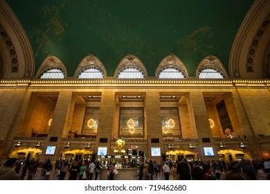 NEW YORK CITY - circa May 2015: Interior view of the historic Grand Central Terminal.