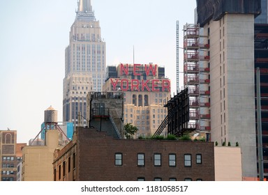 NEW YORK CITY CIRCA SEPTEMBER 2018. Despite inroads made by Airbnb and modern hotels, the vintage Art Deco design New Yorker Hotel in midtown Manhattan, pictured, still attracts many tourists.