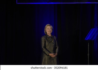 NEW YORK CITY - DECEMBER 13 2015: Former Secretary of State Hillary Rodham Clinton spoke at the 8th annual National Immigration Integration conference.