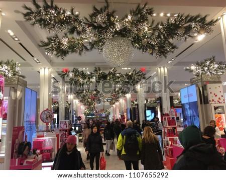 new york city december 2017 macys department store interior in herald square in manhattan - Macys Christmas Decorations 2017
