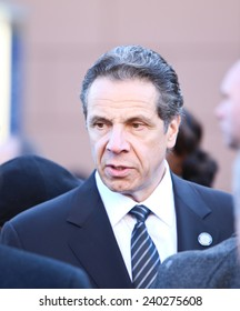 NEW YORK CITY - DECEMBER 27 2014: along with political leaders, uniformed police officers from all over north America attended funeral services for NYPD officer Rafael Ramos. NY Governor Andrew Cuomo