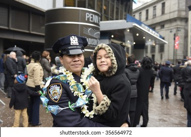 NEW YORK CITY - DECEMBER 29 2015: Mayor de Blasio, Commissioner Bratton and Homeland Security chief Johnson presided over the graduation of new NYPD officers at Madison Square Garden