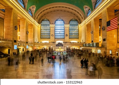 NEW YORK CITY - DECEMBER 31: Main hall of Grand Central Station, as seen on December 31, 2012, in New York, NY. The terminal is the largest train station in the world by number of platforms.