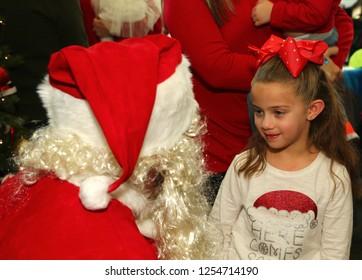 NEW YORK CITY - DECEMBER 8 2018: Bay Ridge Attorneys Association held a Santa holiday breakfast for families & kids.