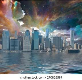 New York City Fantasy Landscape