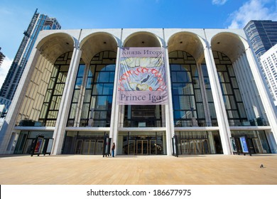 NEW YORK CITY -  FEB. 10, 2014: The Metropolitan Opera House in New York City at Lincoln Center.