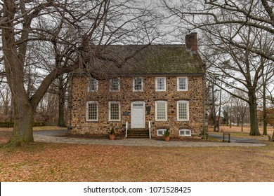 New York City - Feb 19, 2018: TheConference House, built before 1680, a National and New York City Landmark, is the only pre-Revolutionarymanor housestill surviving in New York City.