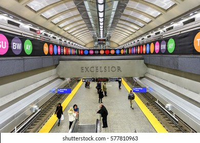 New York City - February 11, 2017: 72nd Street subway station on Second Avenue in New York City, New York.