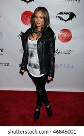 NEW YORK CITY - FEBRUARY 16 : Adrienne Bailon attends Clandestine Industries by Pete Wentz's after party on February 16, 2010 in NYC.