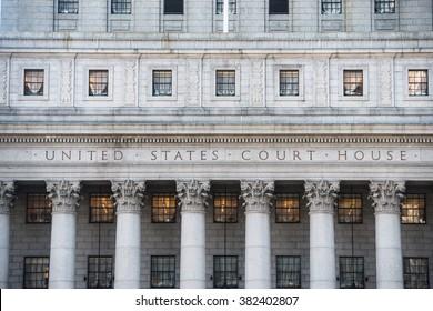 NEW YORK CITY - February 22: United States Court House in New York City February 22, 2016 in New York, NY.