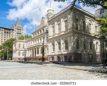 The New York City Hall on a beautiful day