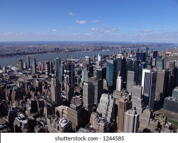 New York City and Hudson River