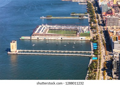New York City, Hudson River park tenis courts and soccer playground