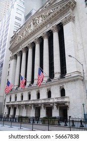 NEW YORK CITY - JAN 1: Wall Street with New York Stock Exchange in Manhattan Finance district during United States economy recovery, January 1, 2010 in Manhattan, New York City.