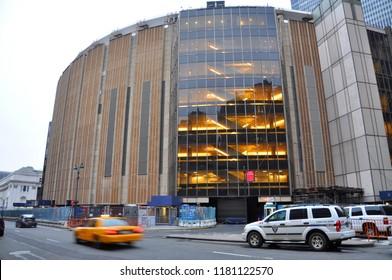 NEW YORK CITY - JAN 13, 2013: Madison Square Garden on Eighth Avenue and 31st Street, Midtown Manhattan, New York City, USA.