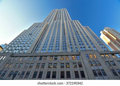 New York City, Jan 21, 2016: The Empire State Building on January 21, 2016 in New York, USA. The Empire State Building is a landmark and American cultural icon in New York City