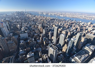 New York City, JAN 21, 2016: City skyline.