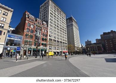 New York City, Jan 21, 2016: Union Square.