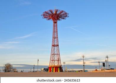 New York City - January 11, 2015: Famous landmark in Brooklyn, Coney Island, NYC, USA