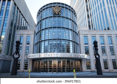 NEW YORK CITY - JANUARY 3: United States Courthouse for the Eastern District of New York on January 3, 2016 in New York City. The population of the Eastern District is eight million people.