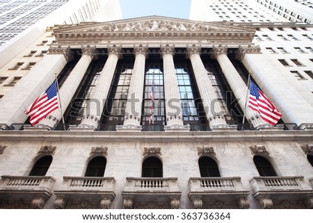NEW YORK CITY - JANUARY 3:  The New York Stock Exchange on January 3, 2016 in New York City.