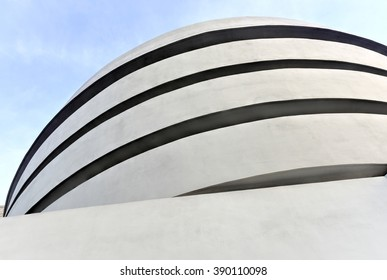 New York City - January 31, 2016: The famous Solomon R. Guggenheim Museum of modern and contemporary art in New York City, USA