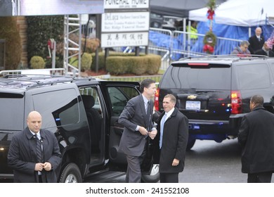 NEW YORK CITY - JANUARY 4 2015: several thousand police officers from all over North America attended funeral services for slain NYPD officer Wenjian Liu in Brooklyn. FBI Director James Comey