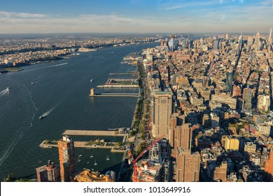 New York City and New Jersey skyline. Manhattan viewed from FreedomTower