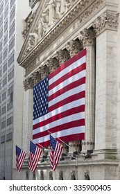 NEW YORK CITY - JULY 11: The New York Stock Exchange on Wall Street on July 11, 2015 in New York City. The NYSE is one of the most important stock exchanges worldwide.