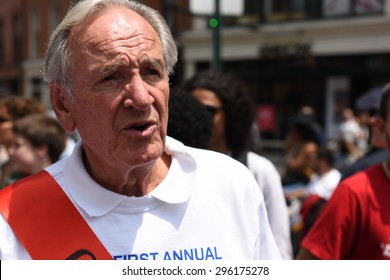 NEW YORK CITY - JULY 12 2015: Mayor Bill de Blasio & former US senator Tom Harkin led the first ever NYC Disability Pride Parade from Madison Square Park to Union Square. Senator Tom Harkin