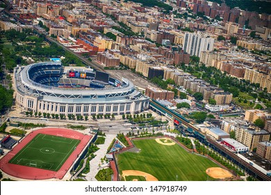 NEW YORK CITY - JUN 14: Yankee Stadium is a stadium located in The Bronx in New York City. It is the home ballpark for the New York Yankees. June 14, 2013 in New York City, USA.