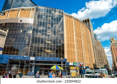 NEW YORK CITY -JUN 15: Madison Square Garden in NYC on June 15, 2013. This landmark multi-purpose indoor arena, located above Penn Station opened in February 1968