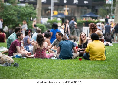 NEW YORK CITY - JUNE 11 2016: Big Apple Barbecue hosted its annual Barbecue Block Party in Madison Square Park. Street food festival.