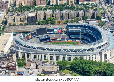 NEW YORK CITY - JUNE 14, 2013: Yankee Stadium, aerial view. Home of the Yankees it is situated in the Bronx and can host 50000 for Baseball Games.