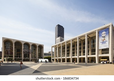New York City - June 22: Lincoln Center and Metropolitan Opera House in New York on June 22, 2013