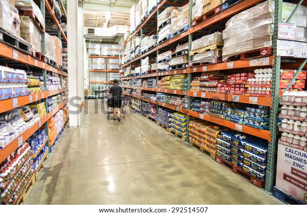 NEW YORK CITY - JUNE 29 2015: Costco announced that as of March 31 2015 American Express will no longer be the exclusive credit accepted at their stores nationwide
