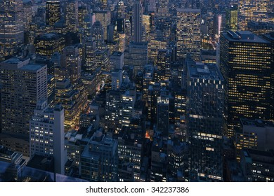 new york city look from bird space